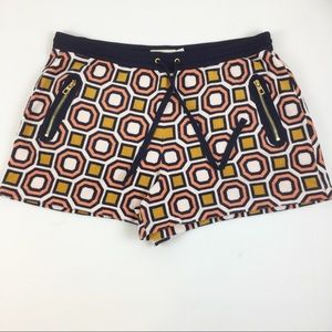 Tory Burch Multicolor Print Terry Cloth Shorts
